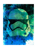 Trooper Helmet Watercolor 1 Prints by Lora Feldman
