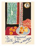 Nice, France - Travail et Joie (Work and Joy) - Still Life with Pomegranates Giclée-trykk av Henri Matisse