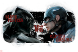 Captain America: Civil War - Captain America and Black Panther Plastic Sign