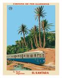 El Kantara - Southern Algeria - Chemins de Fer Algeriens, Algerian Railways Giclée-tryk af Emile Bon