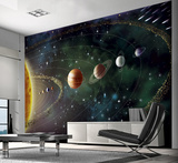 Planets Wall Mural Vægplakat i tapetform