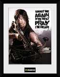 The Walking Dead- Daryl Shoot Me Again Collector Print