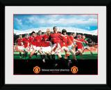 Manchester United- Legends Wydruk kolekcjonerski
