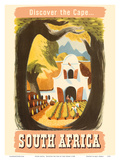 South Africa - Discover the Cape - South African Vineyard Prints by Leng Dixon