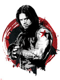Captain America: Civil War - Winter Soldier (Bucky Barnes) Metal Print