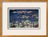 Waterlilies: Green Reflections, 1914-18 (Right Section) Framed Giclee Print by Claude Monet