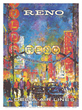 Reno, Nevada - The Biggest Little City in the World - Delta Air Lines Posters by William (Jack) Laycox