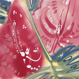 Flamingo Flower II Giclee Print by Alan Halliday