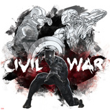 Captain America: Civil War - Black Panther Metal Print