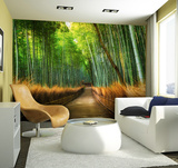 Bamboo Path Wall Mural Wandgemälde
