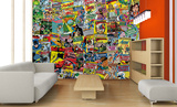 Creative Collage Comics Wallpaper Mural
