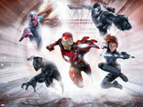 Captain America: Civil War - Team Stark, Team Iron Man Metal Print
