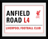 Liverpool- Anfield Street Sign Collector-tryk