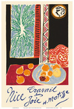 Nice, France - Travail et Joie (Work and Joy) - Still Life with Pomegranates Plakaty autor Henri Matisse