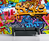 Graffiti Wall Mural Bildtapet (tapet)