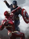 Captain America: Civil War - Captain America Vs Iron Man. Choose a Side Metal Print