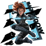 Captain America: Civil War - Black Widow Metal Print