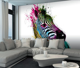 Patrice Murciano Zebra Wall Mural Vægplakat i tapetform af Patrice Murciano