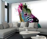 Patrice Murciano Zebra Wall Mural 壁紙ミューラル : パトリス・ムルシアーノ