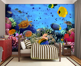 Under the Sea Wall Mural Bildtapet (tapet)