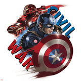 Captain America: Civil War - Captain America Vs Iron Man. Choose a Side Metal Print