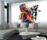 Patrice Murciano Buddha Mural Wandgemälde von Patrice Murciano