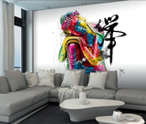 Patrice Murciano Buddha Mural 壁紙ミューラル : パトリス・ムルシアーノ
