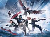 Captain America: Civil War - Team Captain America Metal Print