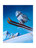 The Downhill Race Photographic Print by Cindy Thornton