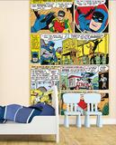 Batman Comic Panels Wall Mural Vægplakat