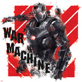 Captain America: Civil War - War machine Metal Print