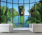 Thailand Window View Wall Mural Wallpaper Mural