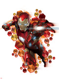 Captain America: Civil War - Iron Man Alu-Dibond