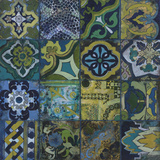 Cobalt Mosaic II Giclee Print by John Douglas
