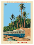El Kantara - Southern Algeria - Chemins de Fer Algeriens, Algerian Railways Plakater af Emile Bon