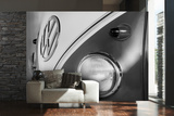 VW Black & White Camper Wall Mural Mural de papel pintado