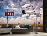 Route 66 Cafe Wall Mural - Duvar Resimleri