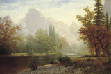 Half Dome, Yosemite Giclee Print by Albert Bierstadt