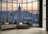 New York Window Wall Mural Bildtapet (tapet)