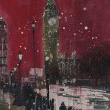 First Snows of Winter, Big Ben Giclee Print by Susan Brown