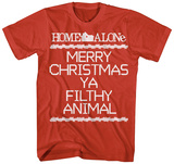Home Alone- Filthy Animal Cross Stitch T-shirts