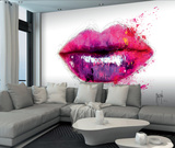 Patrice Murciano Lips Wall Mural 壁紙ミューラル : パトリス・ムルシアーノ