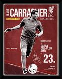 Liverpool- Carragher Retro Wydruk kolekcjonerski