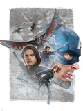 Captain America: Civil War Plastic Sign
