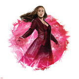 Captain America: Civil War - Scarlet Witch Metal Print
