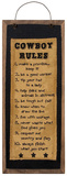 Cowboy Rules Stitchery Wood Sign