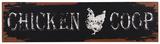 The Chicken Coop Sign Plaque en métal