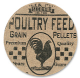 Poultry Feed Advertising Plate Wall Sign