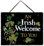 Irish Welcome Slate Wall Sign