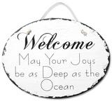 Ocean Blessings Slate Wall Sign
